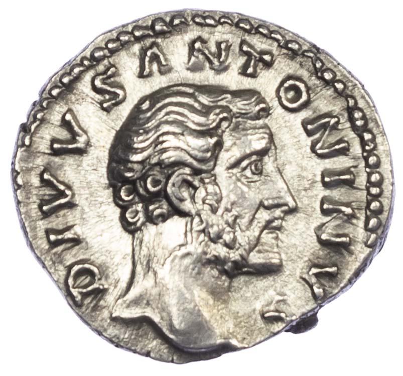 Divus Antoninus Pius, Silver Denarius