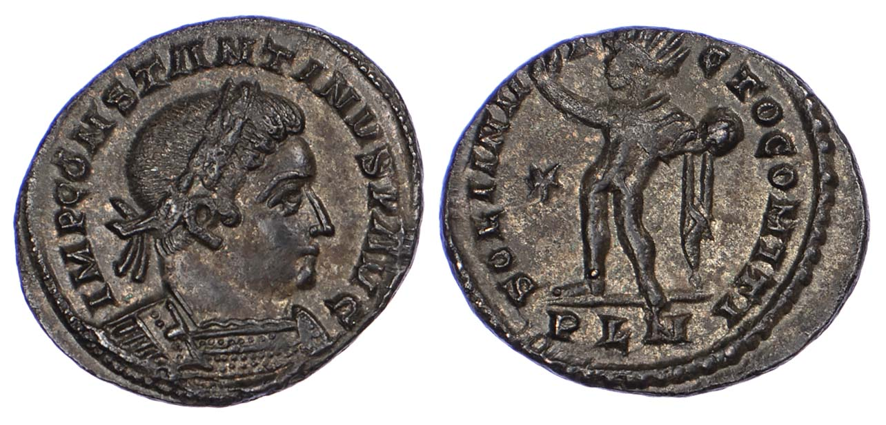Constantine I, London Mint Follis