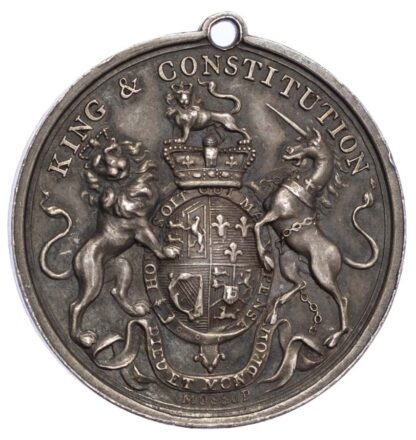 George III (1760-1820), Orange Association 1690, (c 1800), Silver medal