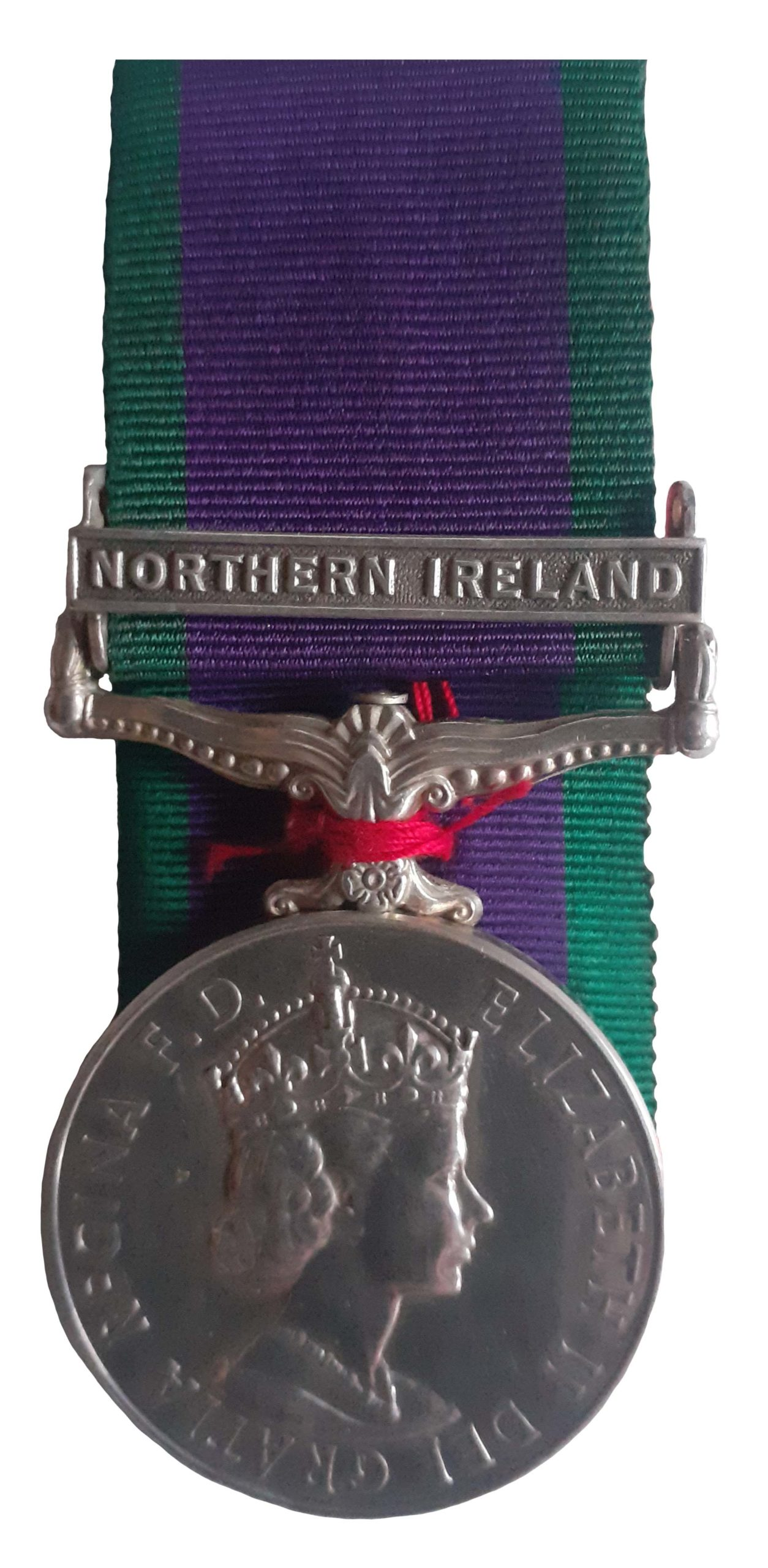 General Service Medal 1962-2007, one clasp, Northern Ireland, to Guardsman D.K. Wood