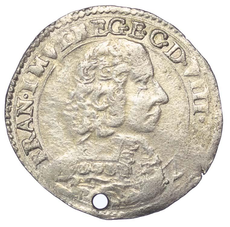 Italy, MODENA, FRANCESCO I D'ESTE, 1/2 LIRA, 1657