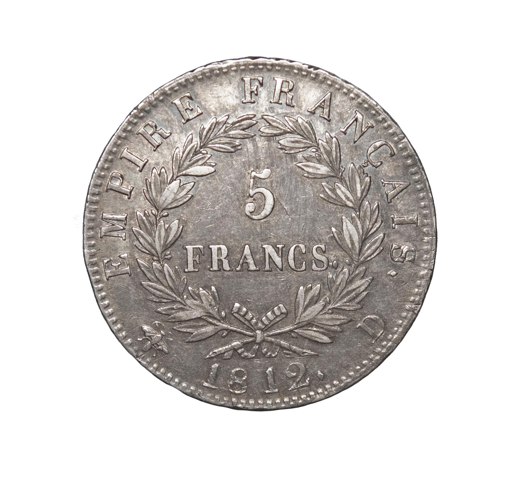 France, First Empire, Napoleon, 5 Francs, 1812 D