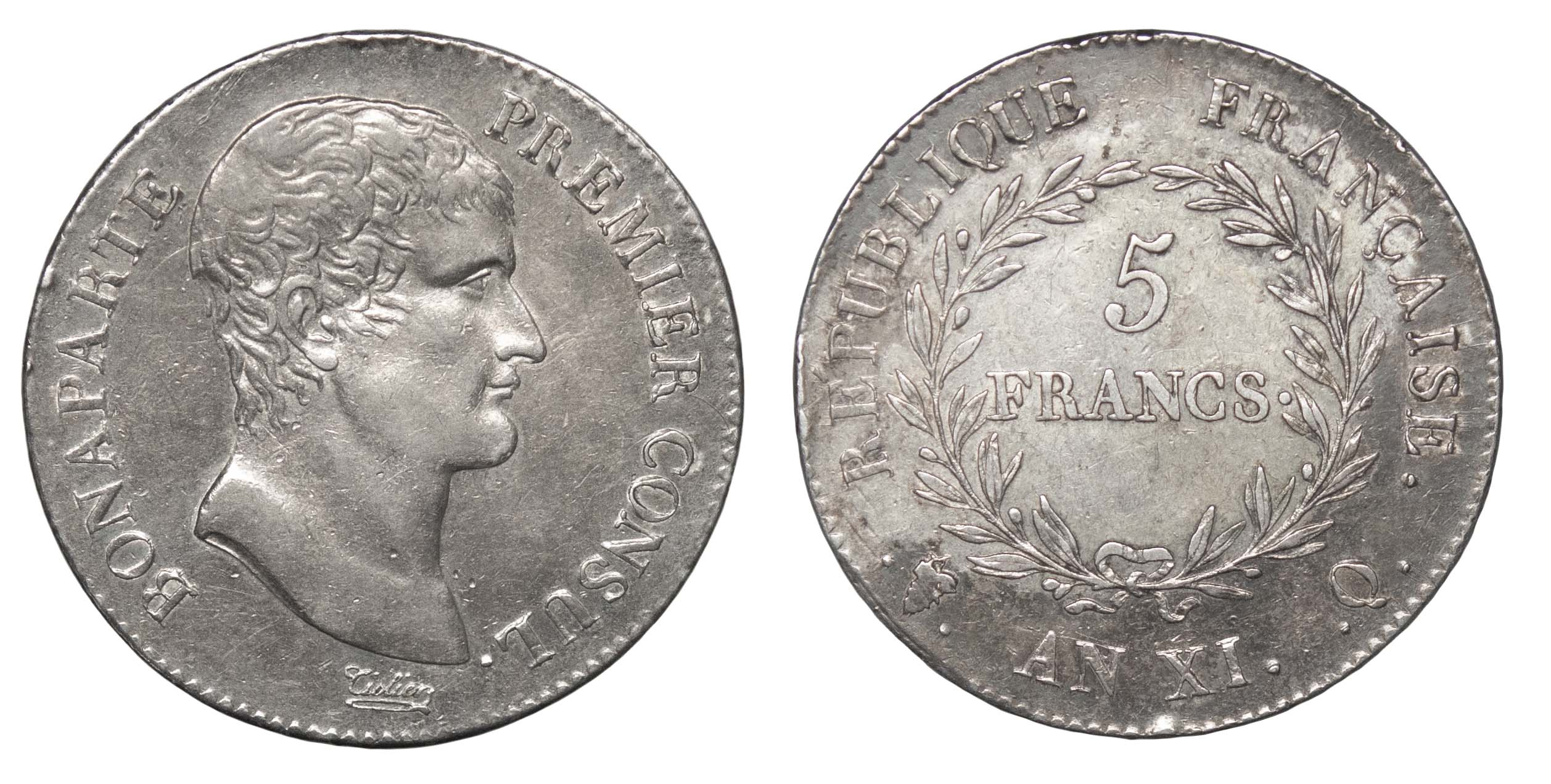 France, Napoleon (1792-1804), 5 Francs, 1803