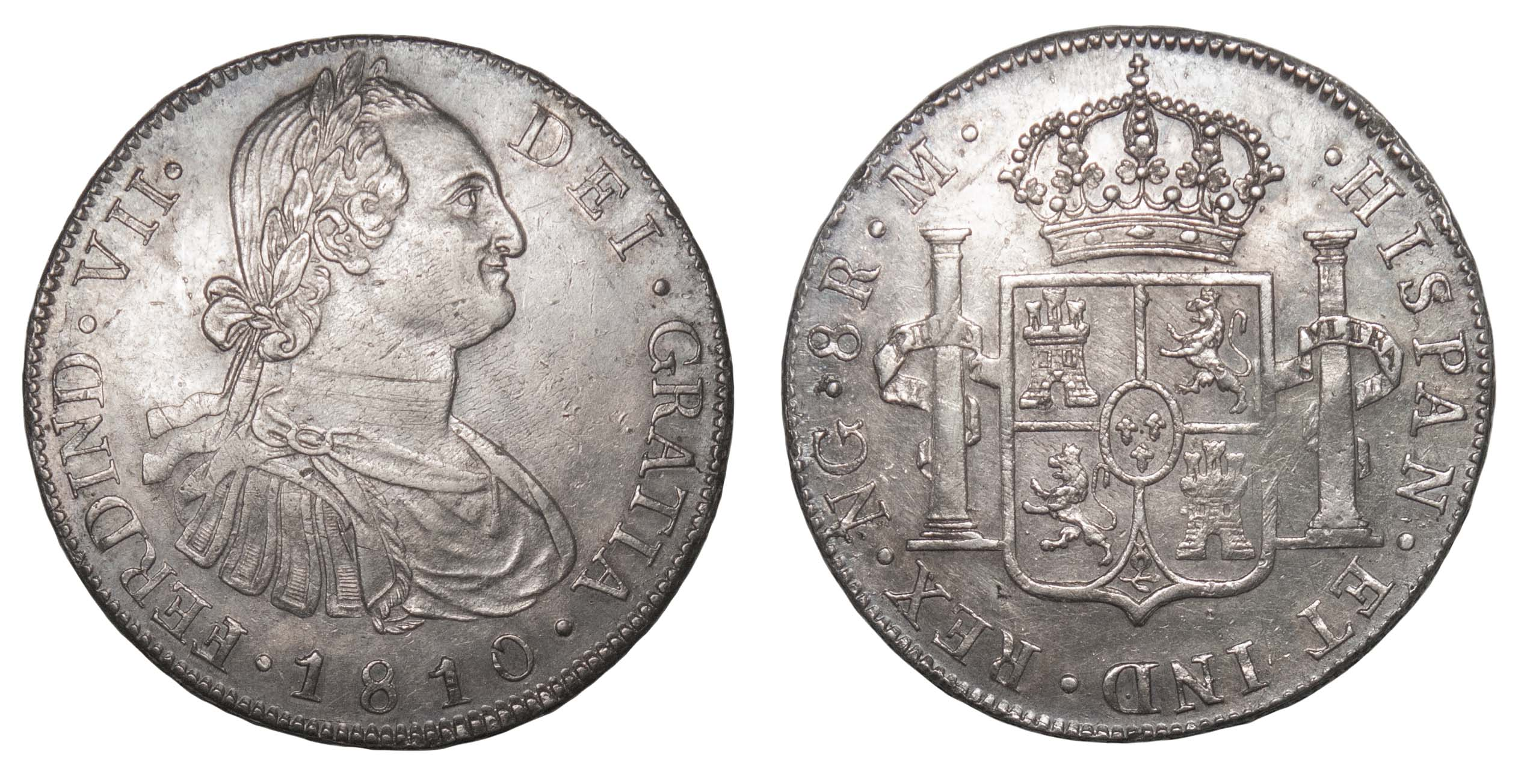 Guatemala (colonial), Ferdinand VII, silver 8 Reales, 1810 NG M