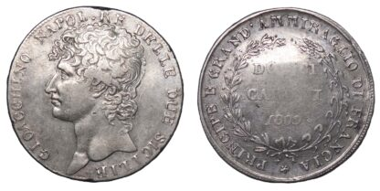 Italy, Sicily, Joachim Murat, 1 Piastra/12 Carlini, 1809