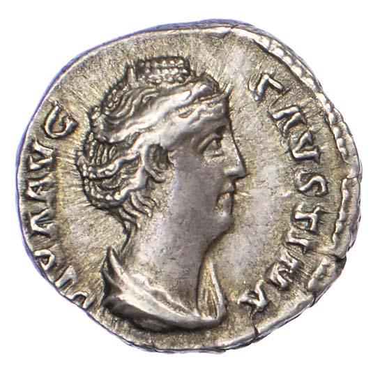 Diva Faustina, Silver Denarius