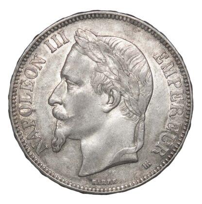 France, Second Empire, Napoleon III, 5 Francs, 1869 BB