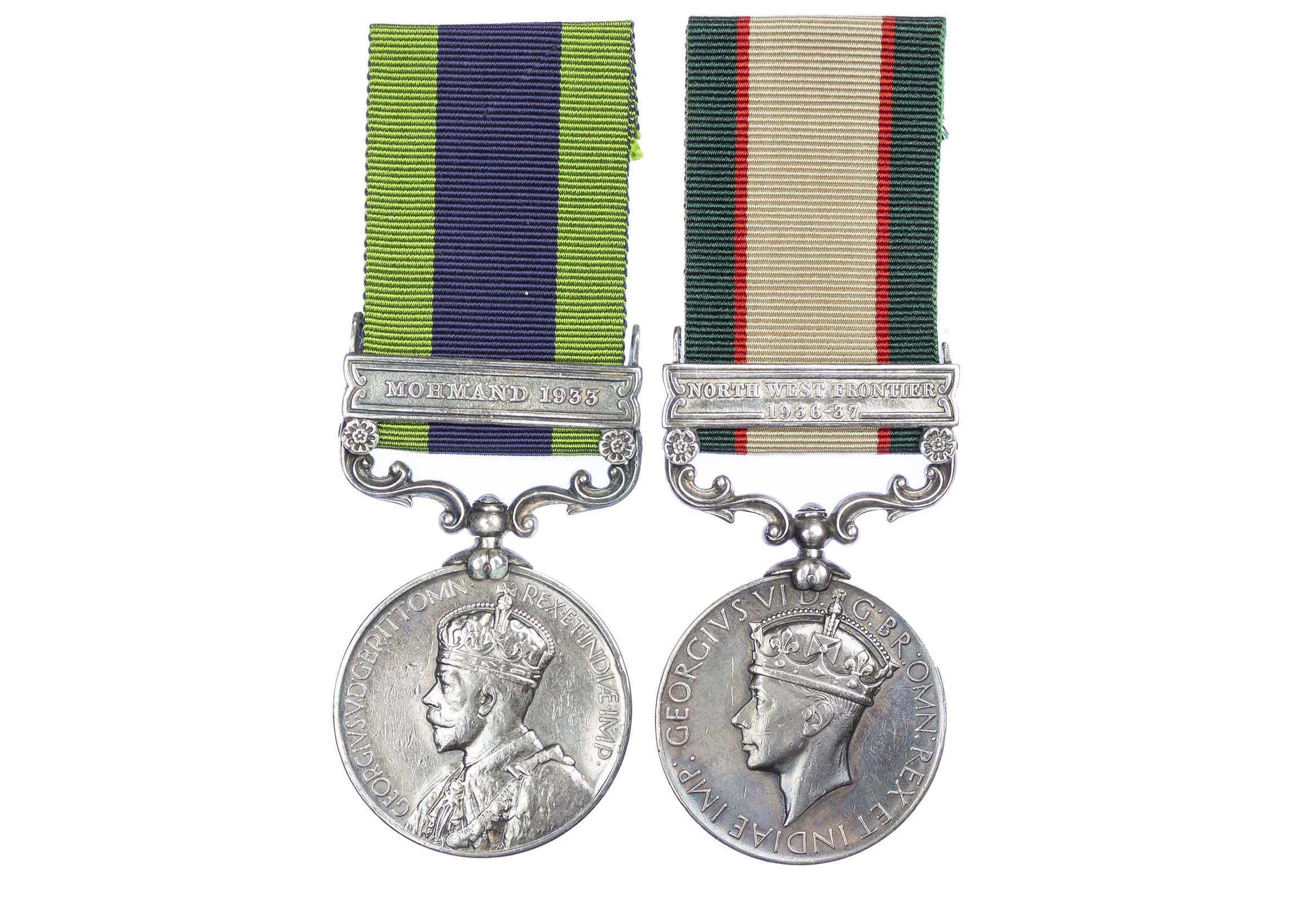 India General Service Medal Pair, to Sepoy Ajarud or Hijra Din