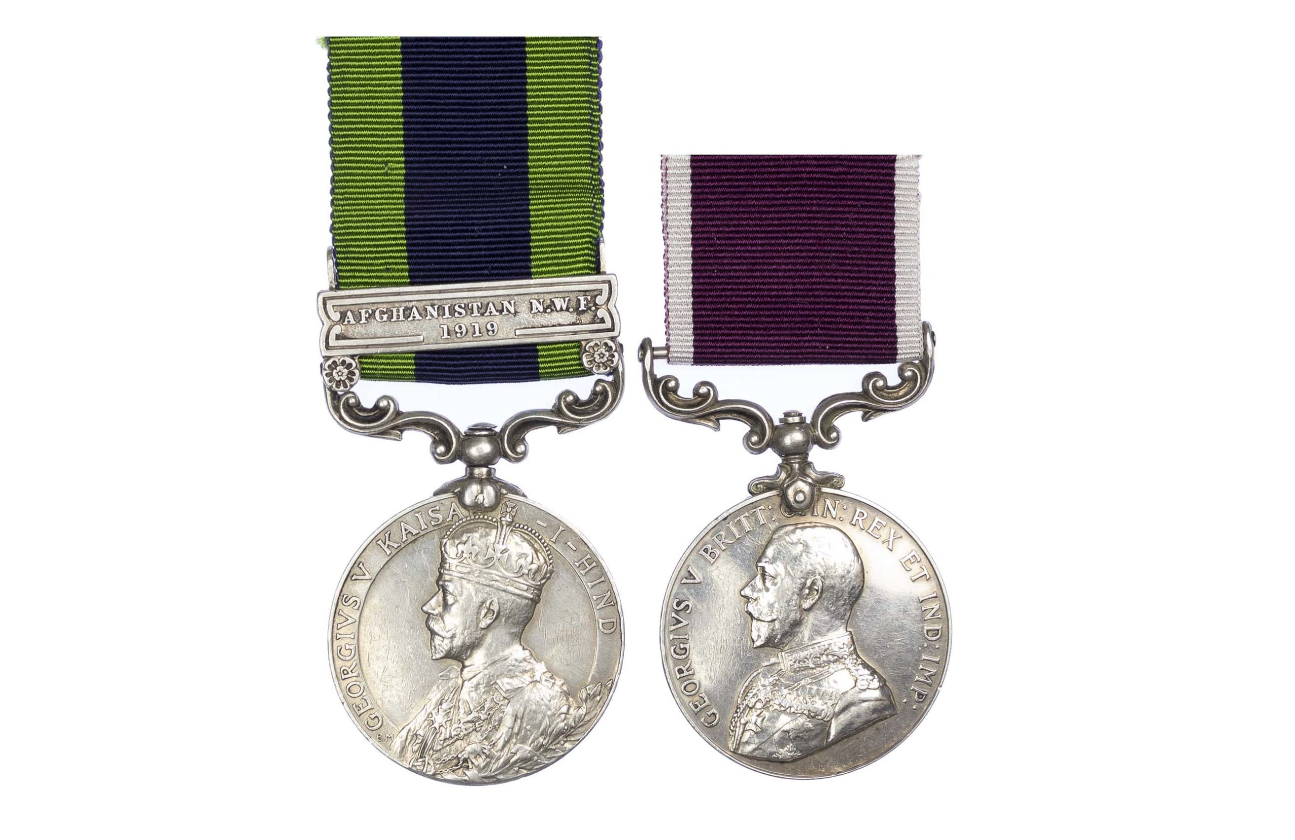 India General service and Long Service Pair to Sergeant J.J. Coppack