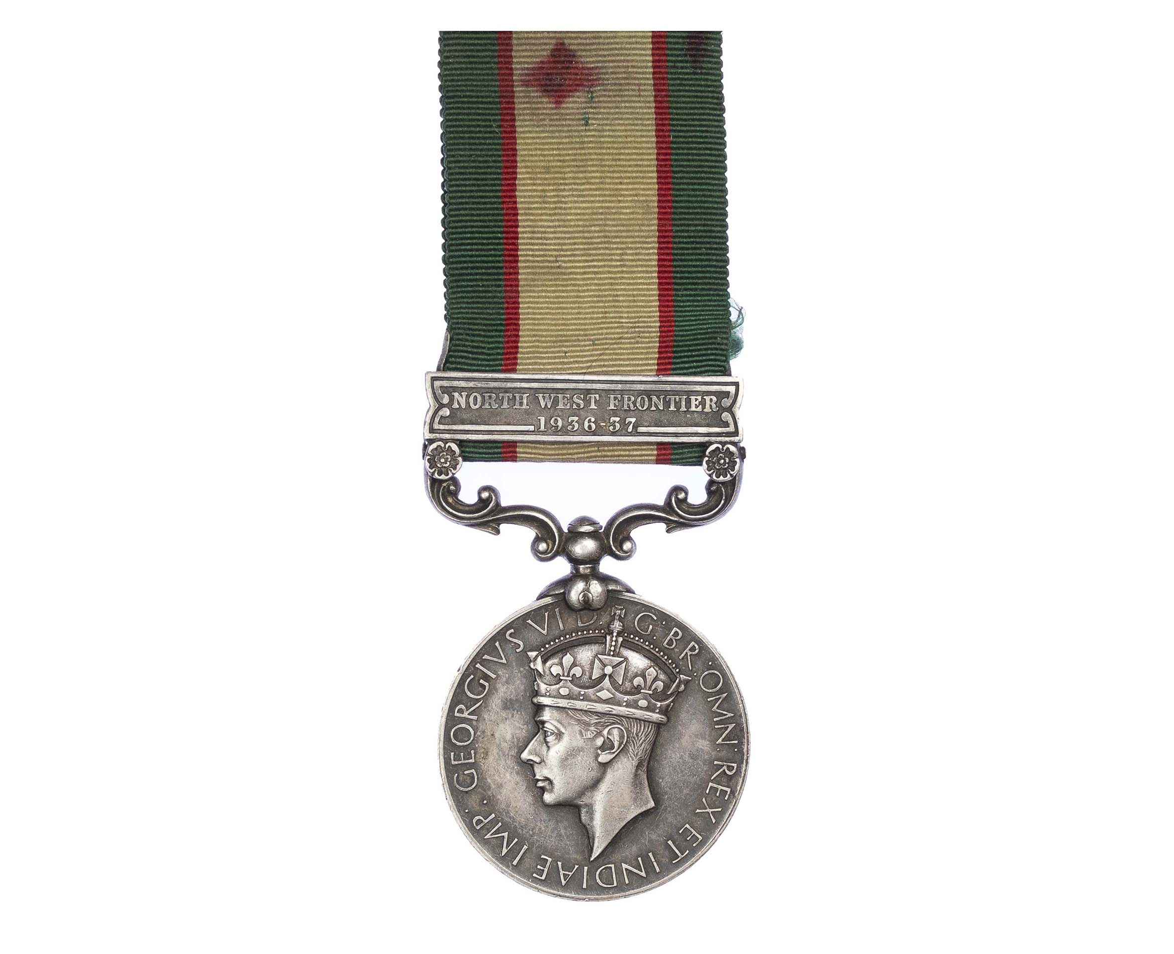 India General Service Medal 1936-1939, one clasp North West Frontier 1936-37, to Havildar Mohd Zaman