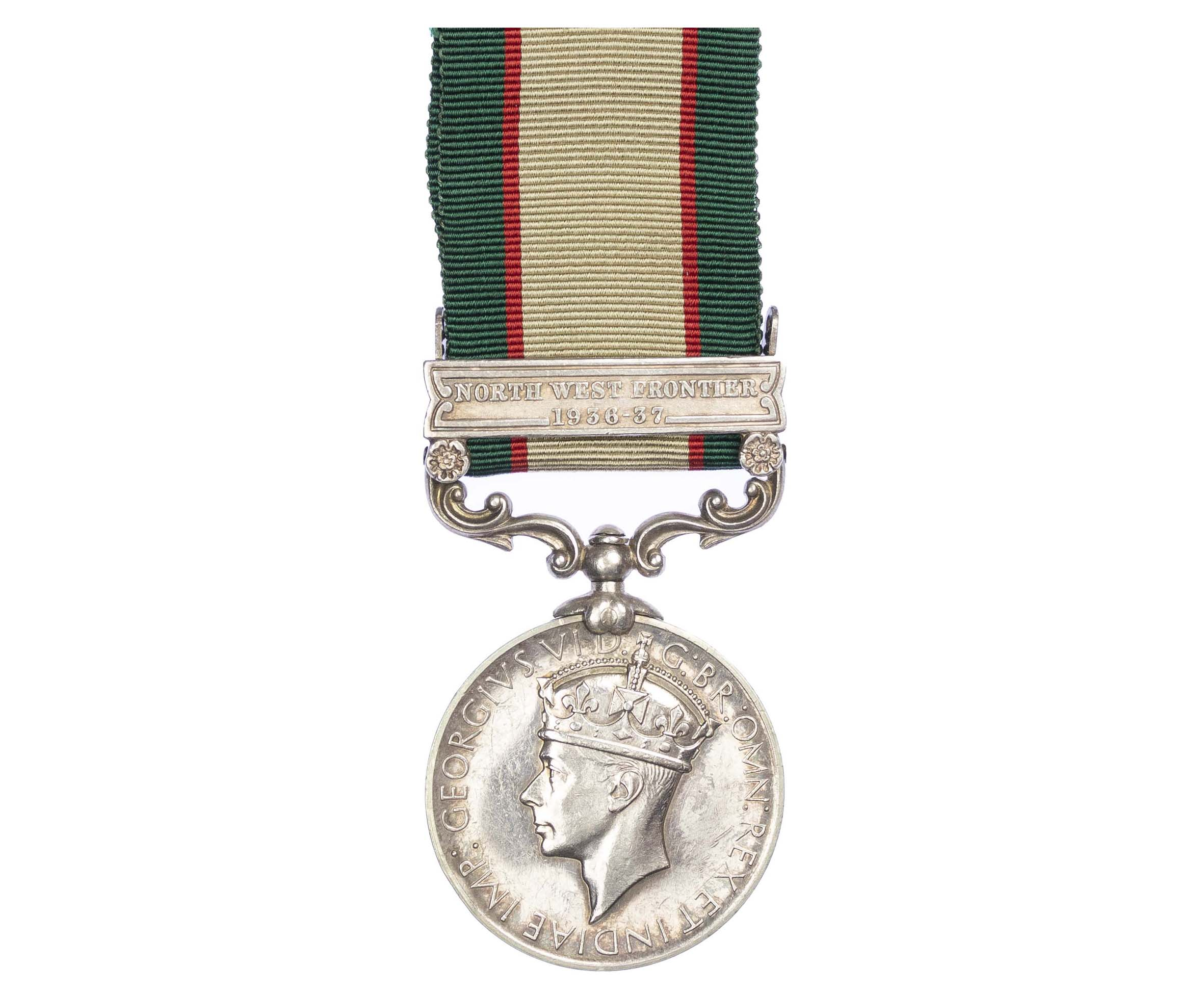 India General Service Medal 1936-39, one clasp, to Sepoy Bagh Ali