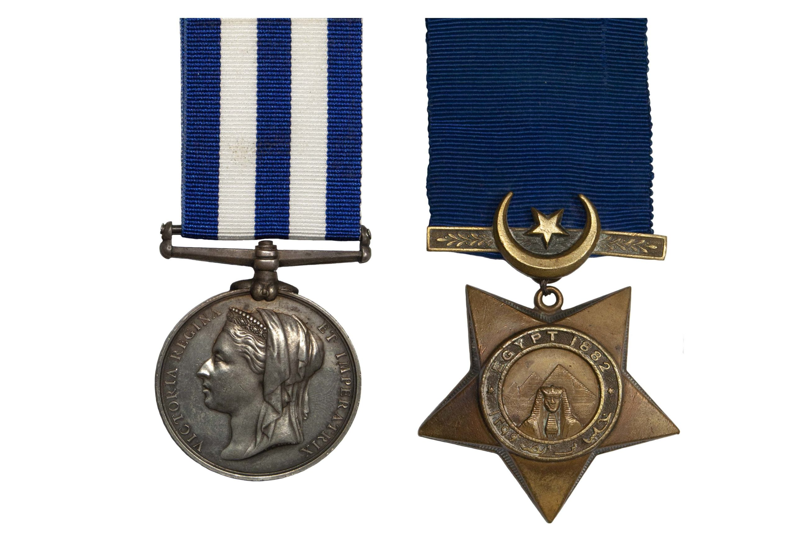 Egypt Pair to Signalman 2nd Class J.T. Stafford, H.M.S. Penelope