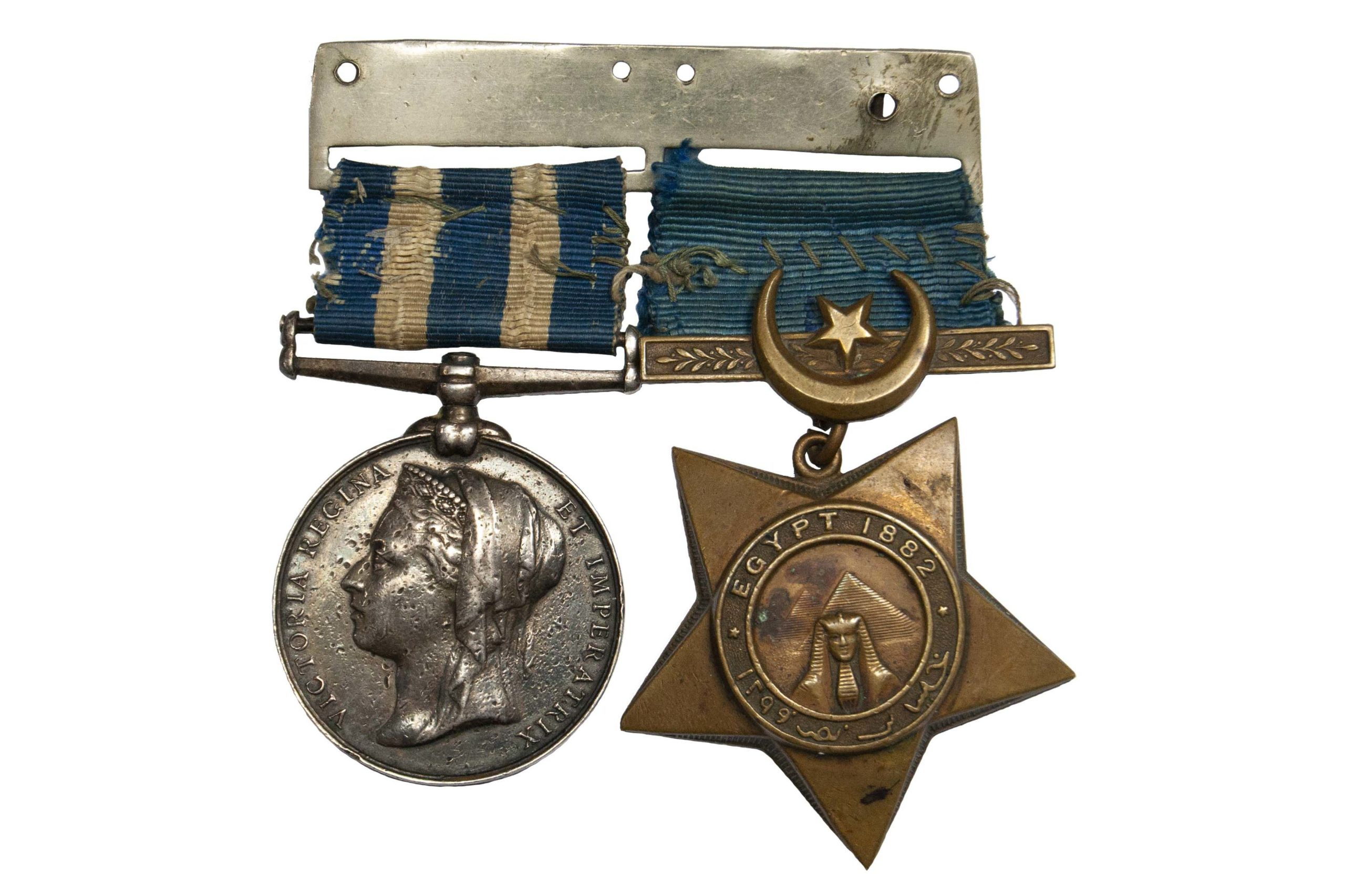 Contemporarily Mounted Egypt Pair to Sergeant A. Brown