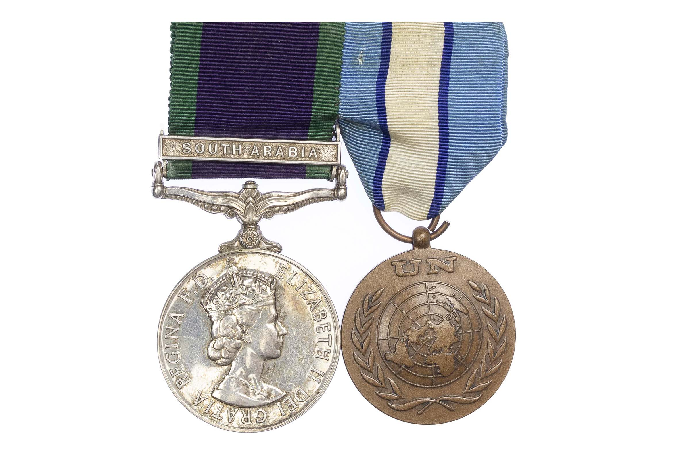 General Service Medal 1962-2007, one clasp, South Arabia, United Nations Cyprus Medal Pair to Private J. Bale