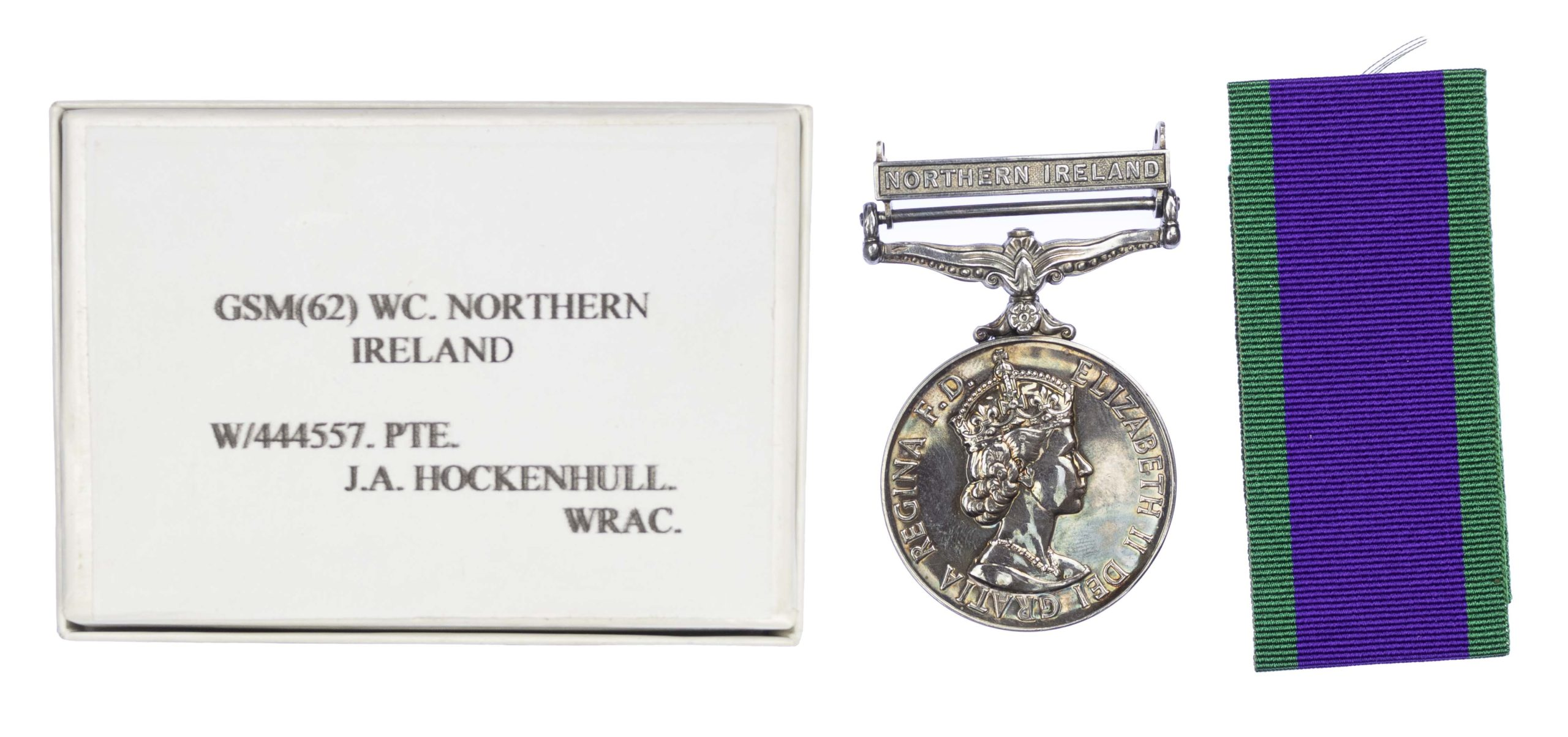 General service Medal, 1962-2007, one clasp Northern Ireland, to Private J.A. Hockenhull