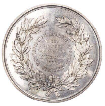 Rowing prize medal, Metropolitan Amateur Regatta silver medal 1906