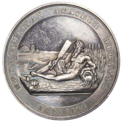 Rowing prize medal, Metropolitan Amateur Regatta silver medal 1905