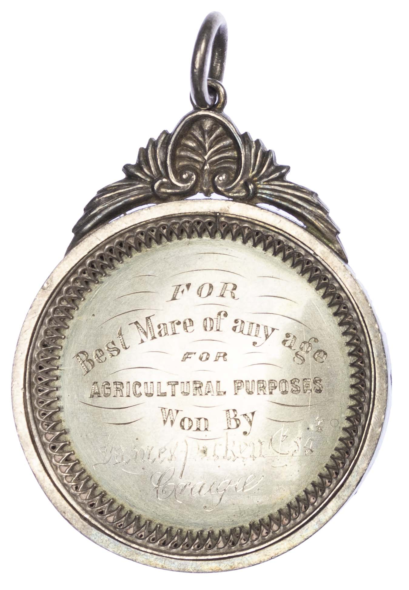 Agricultural prize medal, New Cumnock Farmers Association Silver medal 1879