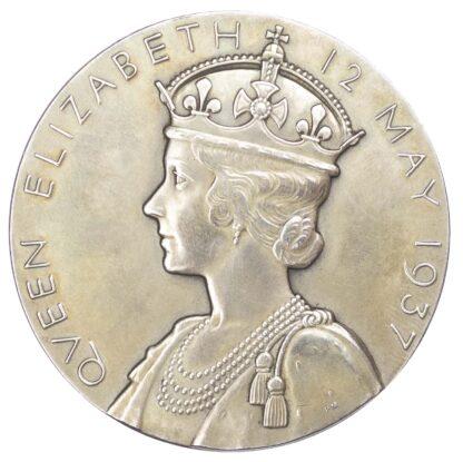 George VI, Coronation, silver medal 1937