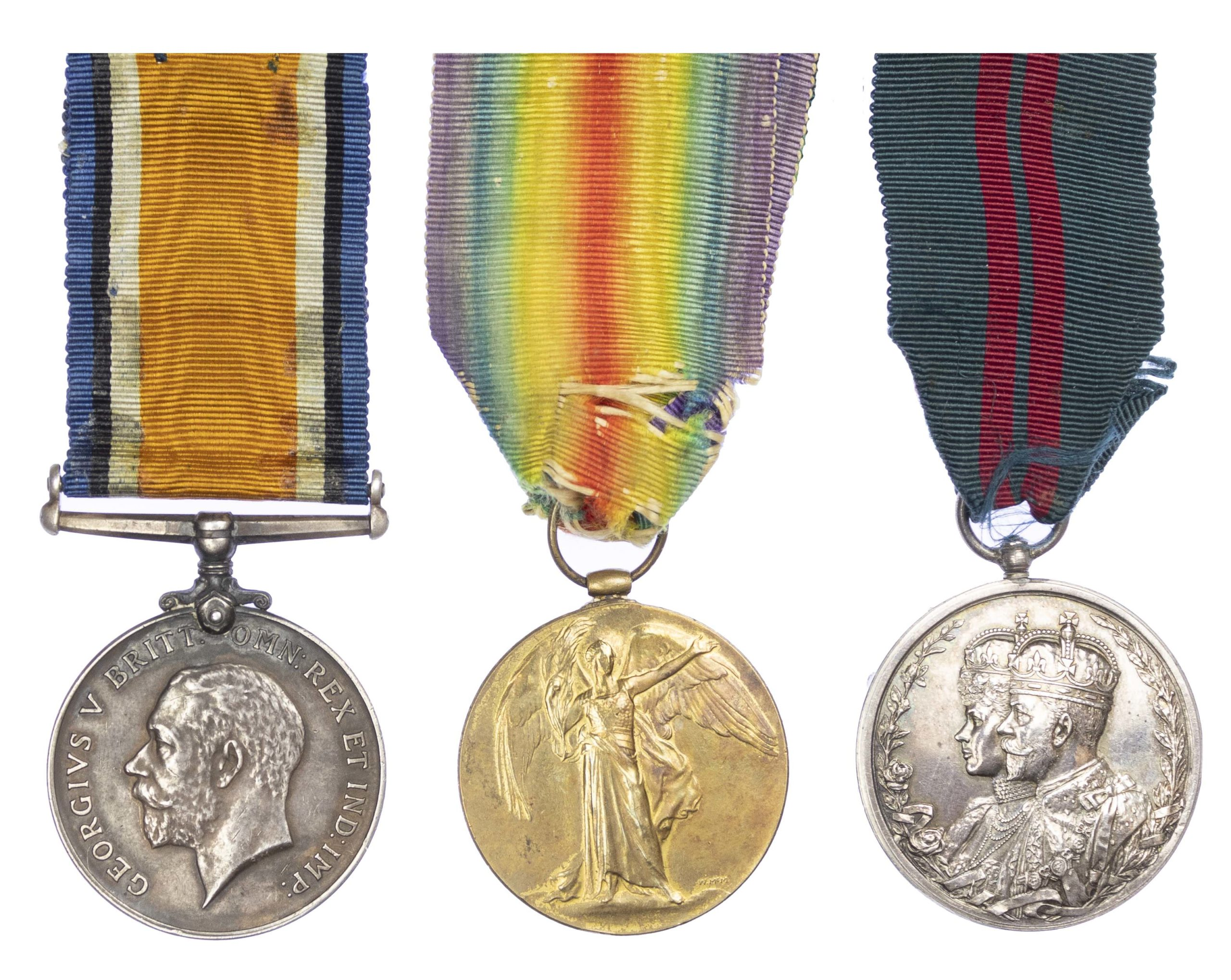 A Great War And Delhi Durbar Casualty Trio to Private Alfred Saltmarsh