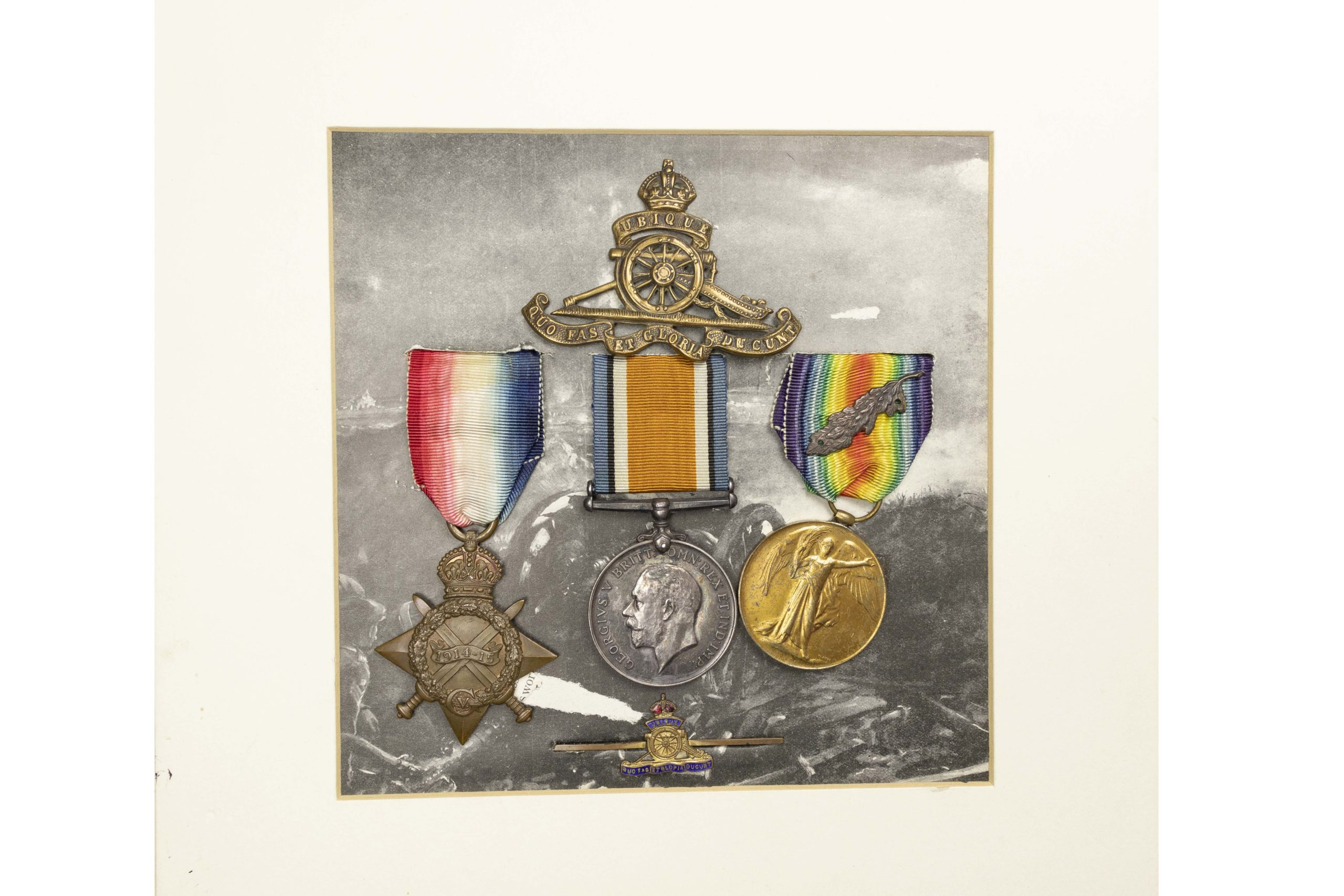 A Great War France and Flanders Group of three to Serjeant John Robert Britton