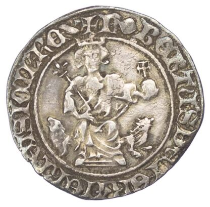 """Italy, Naples, Robert """"The Wise"""" of Anjou (1309-1343), silver gigliato"""