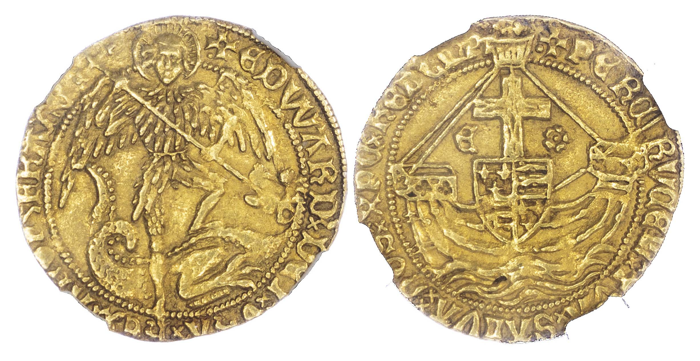 Edward IV, Second Reign (1471-83), Gold Angel, MS 62