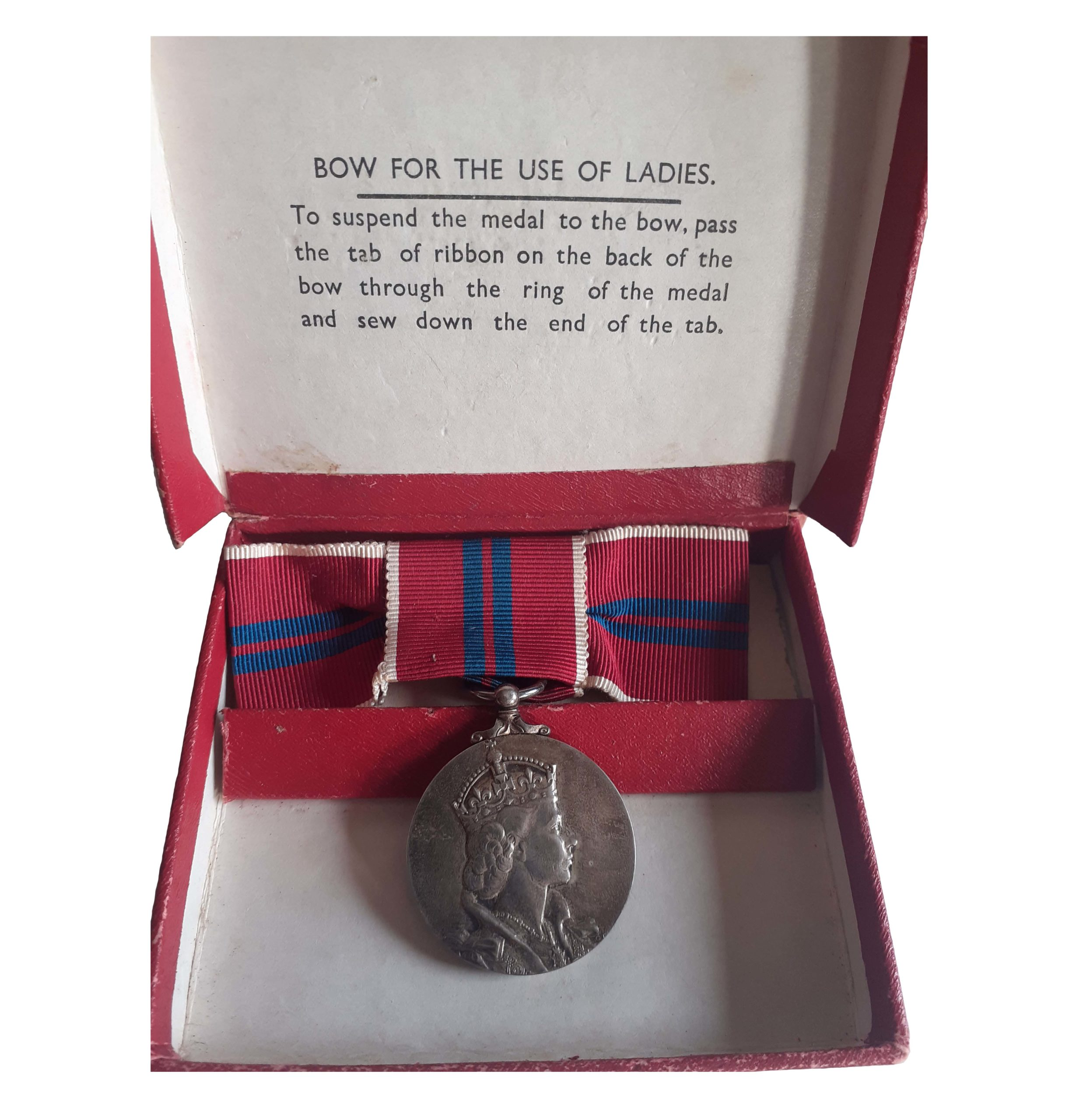 Coronation Medal 1953, ladies issue, in box of issue