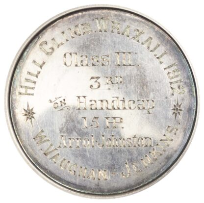 Racing prize medal, Somerset Automobile Club silver 3rd. Handicap medal class III 1912