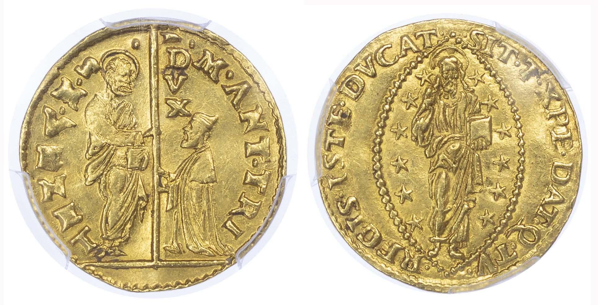 Italy, Venice, Marc'Antonio Trevisano, gold Zecchino