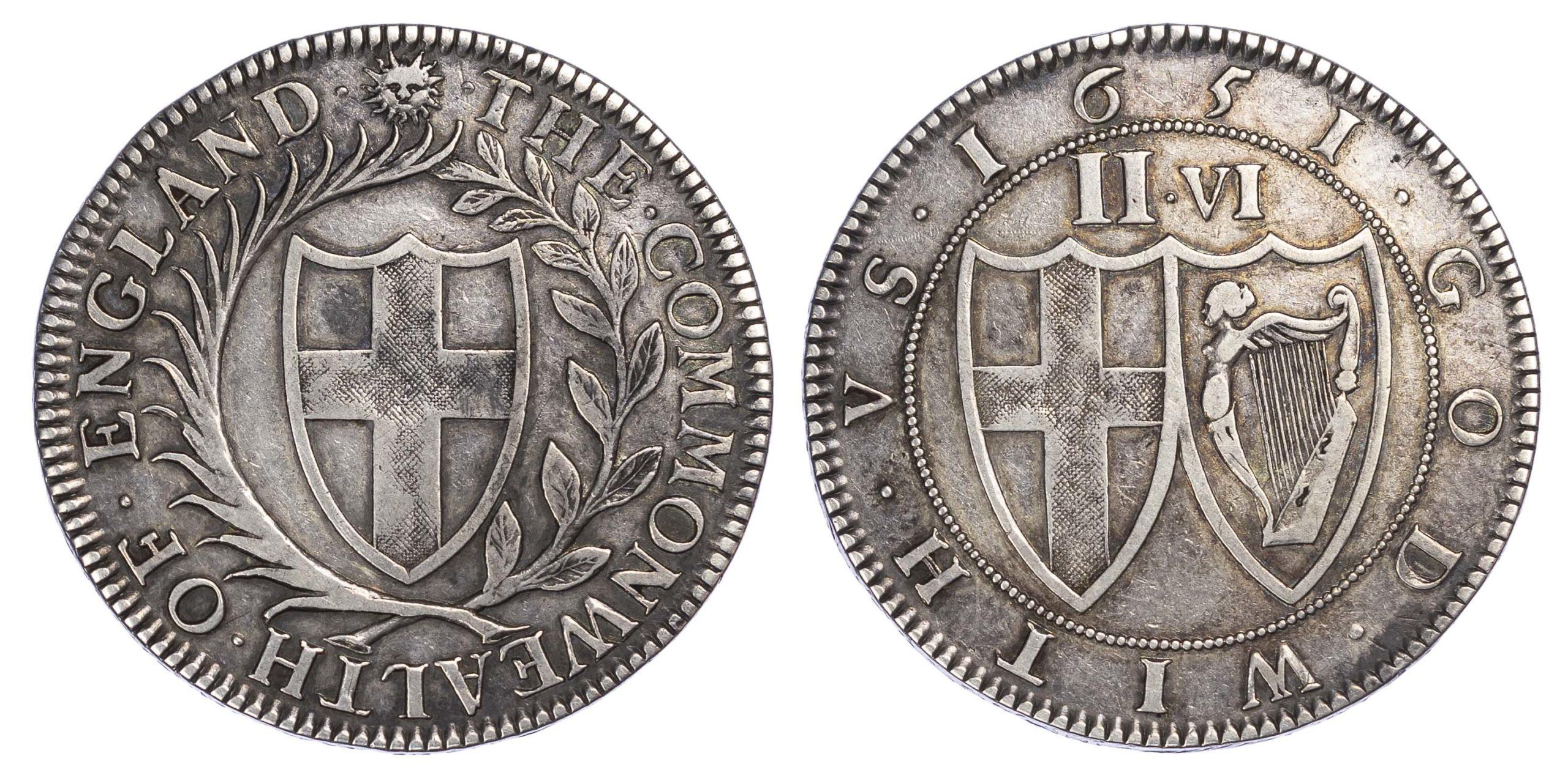 Commonwealth (1649-60), Pattern Halfcrown, 1651, Blondeau