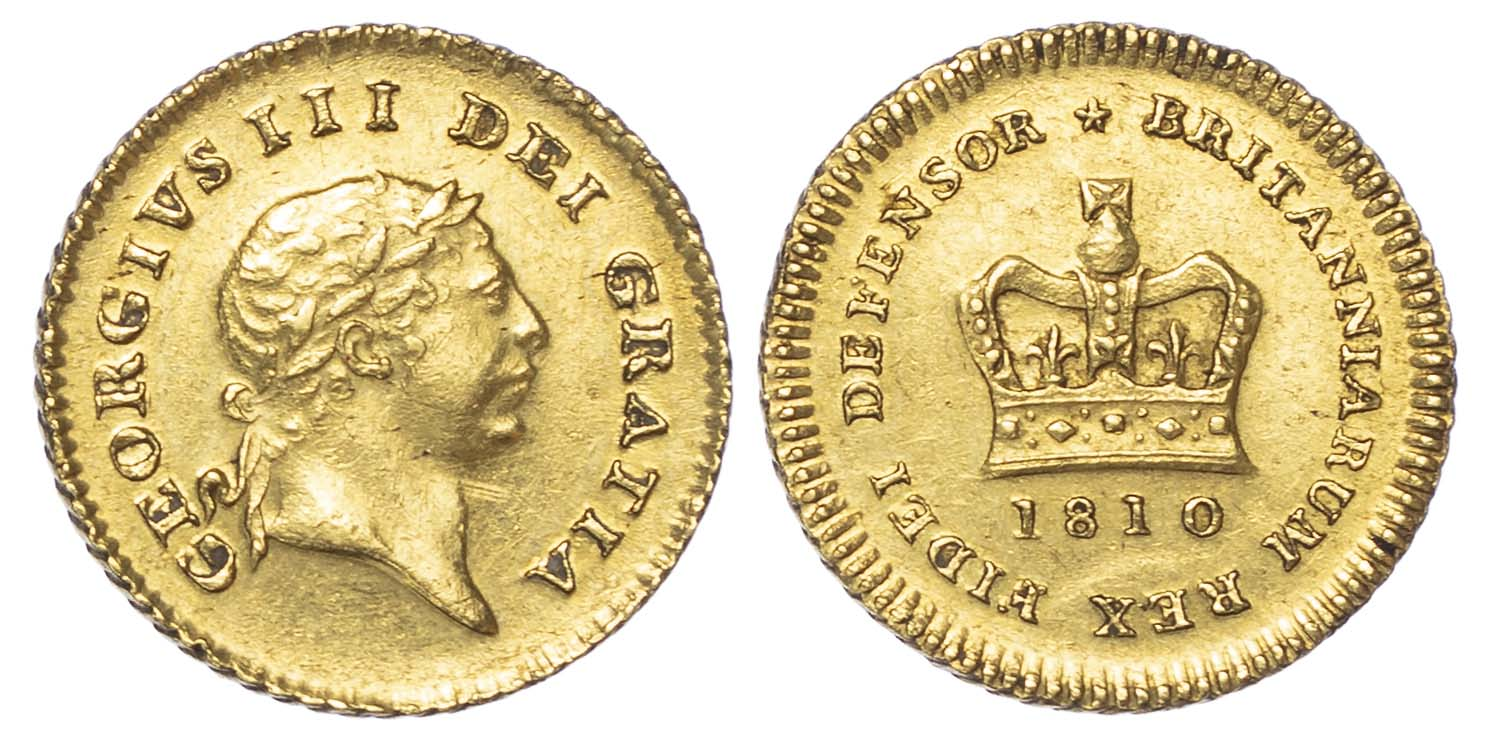 George III (1760-1820), 1810, Third Guinea, Second head