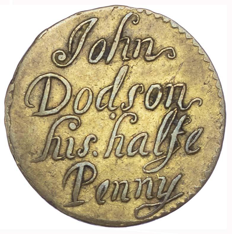 London, St John Street (Clerkenwell), John Dodson, AE Halfpenny, 1667