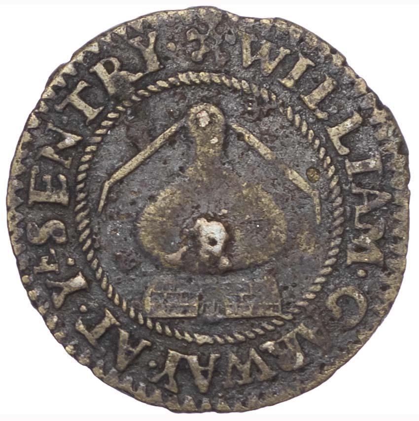 London, Sentry Gate (Tuthill Street). William Garway. Bronze Halfpenny 1666