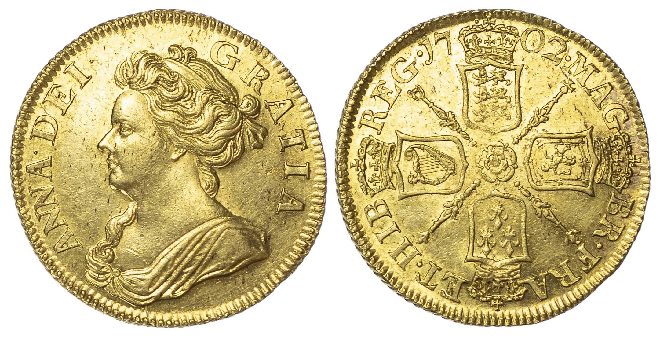 Anne (1702-1714), Pre-Union, Guinea, 1702