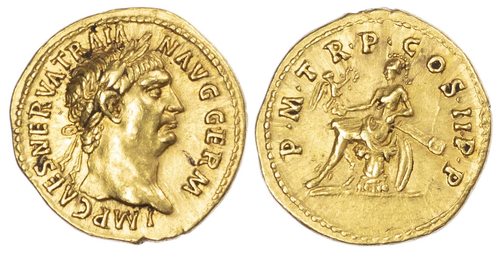 Trajan, Gold Aureus