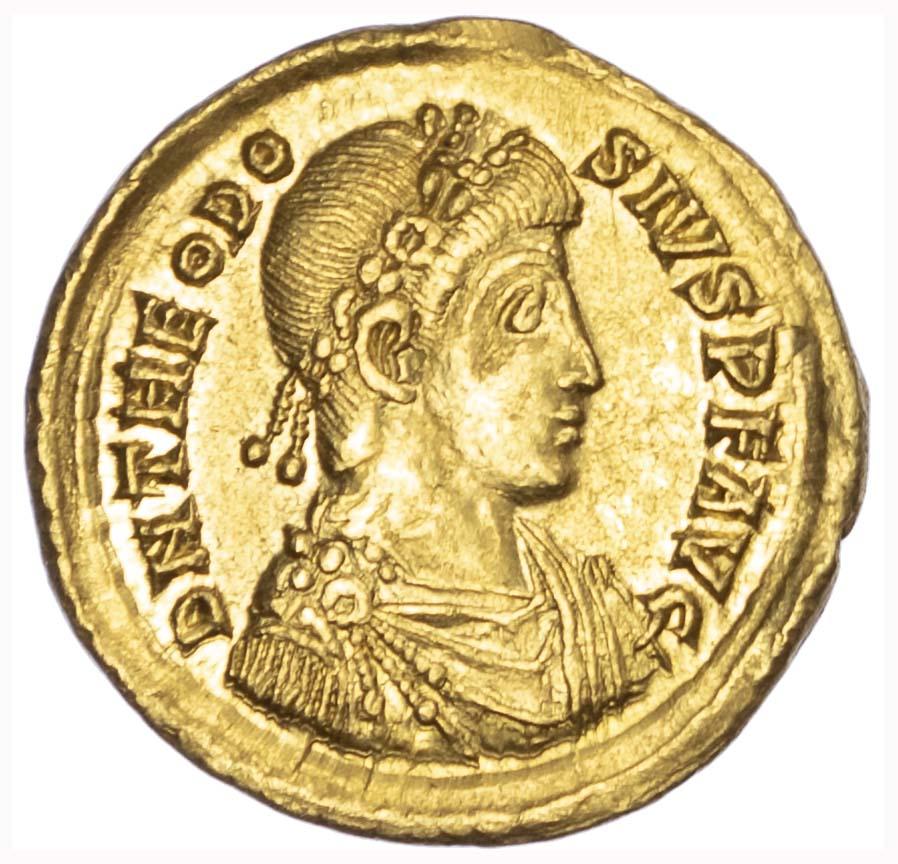 Theodosius I, Gold Solidus