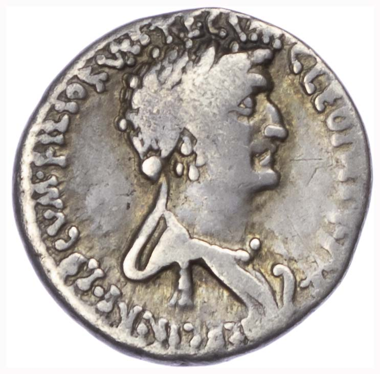Mark Anthony and Cleopatra, Silver Denarius