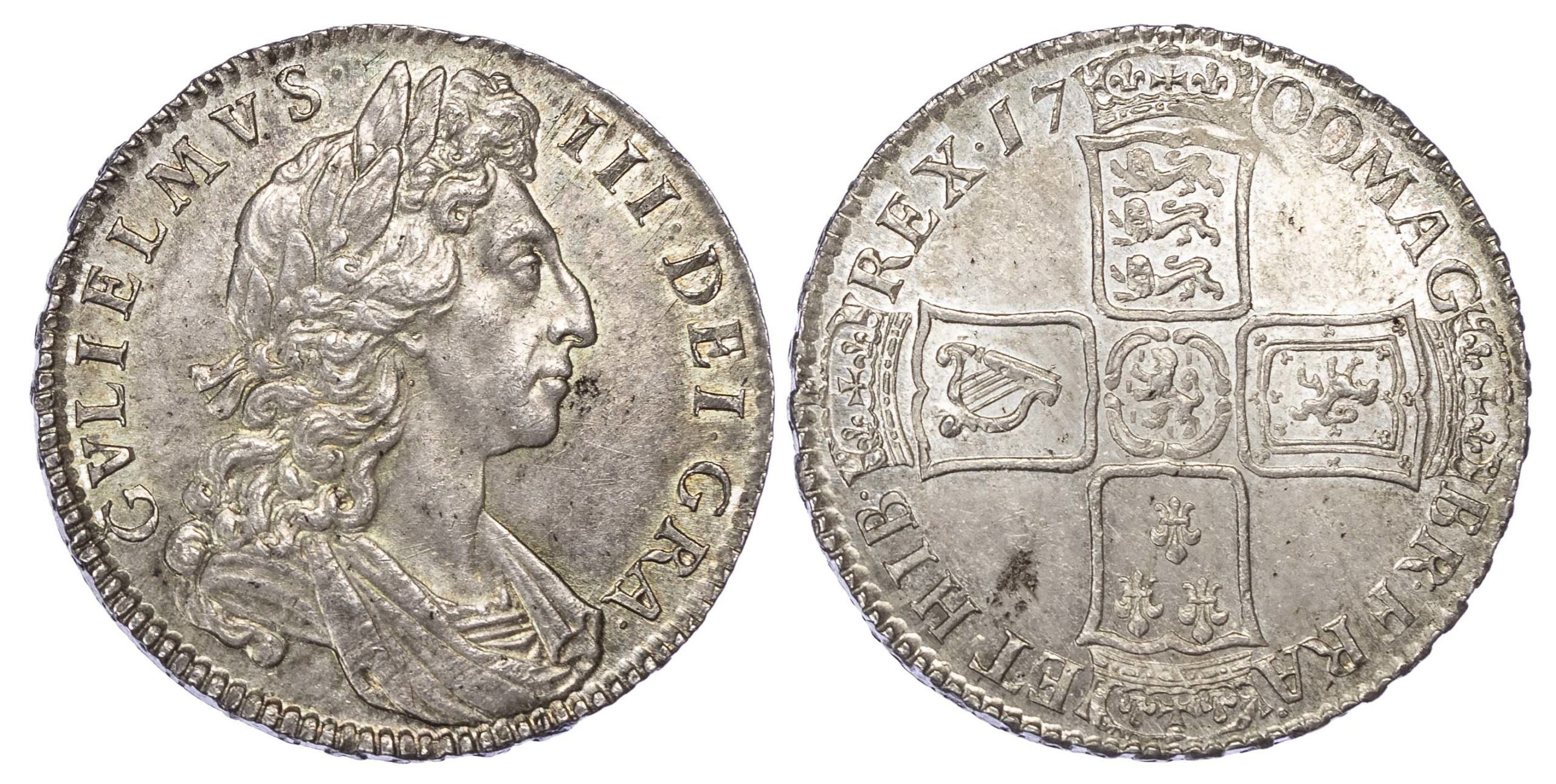 William III (1694-1702), Halfcrown, 1700, Dvodecimo