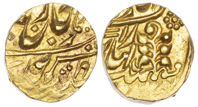 India, Kishangarh, Yaghyanarayan Singh (1926-1938), gold Mohur