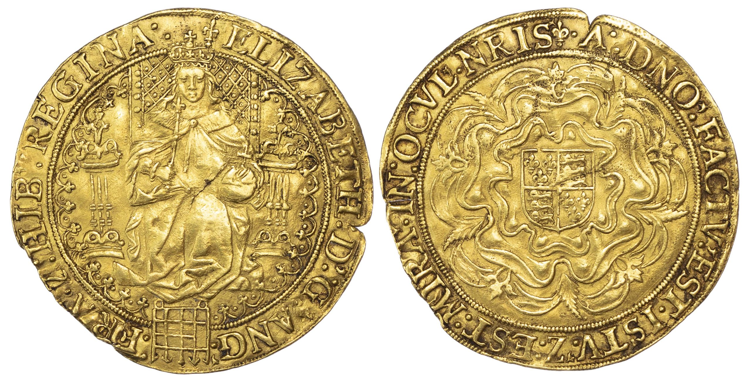 Elizabeth I (1558-1603), fine Gold Sovereign, first issue, mm. lis