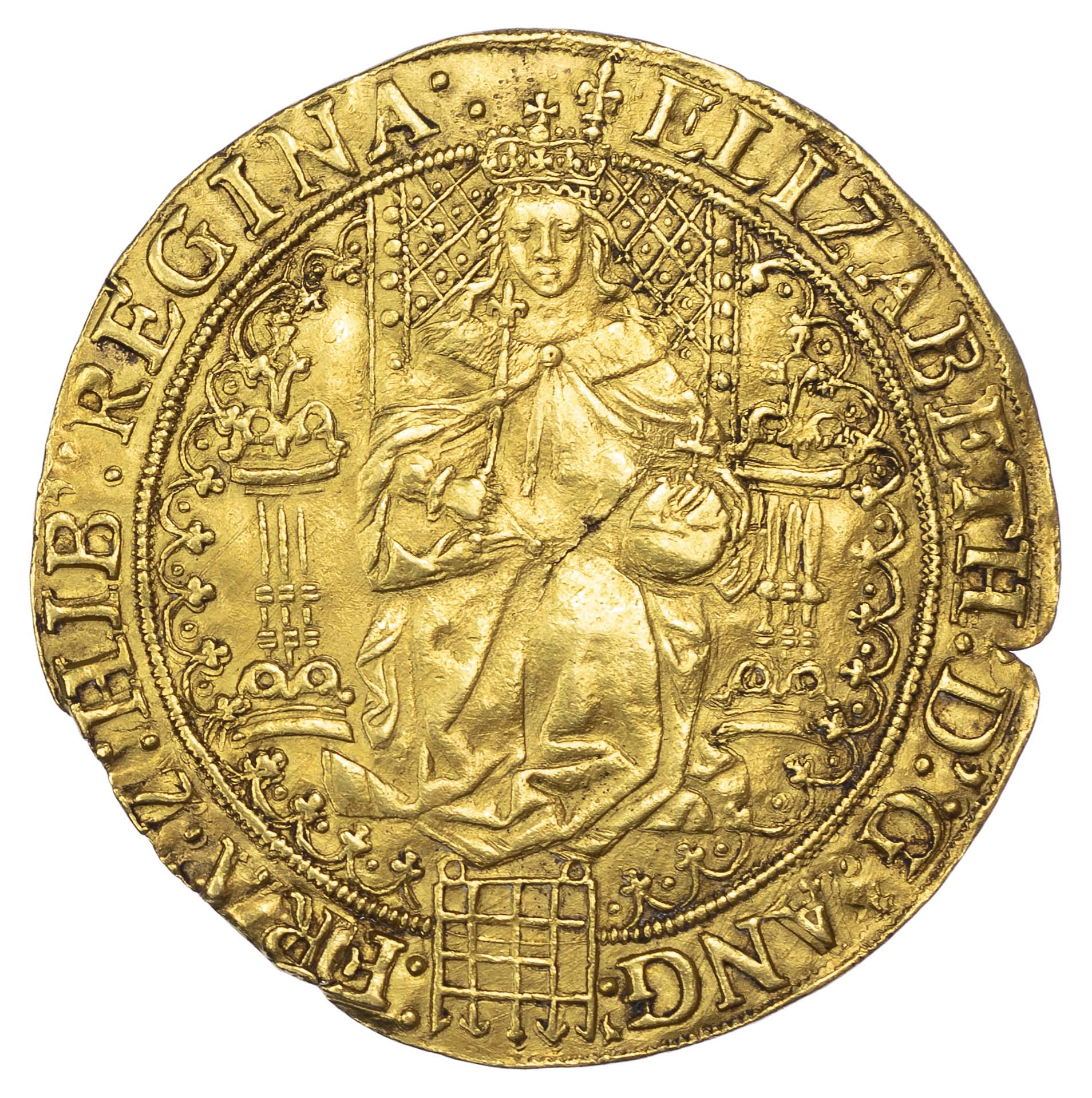 Elizabeth I (1558-1603), fine Gold Sovereign, first issue, mm. lis
