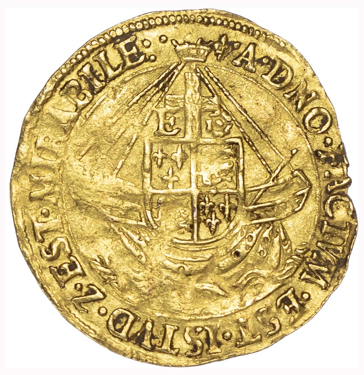 Elizabeth I (1558-1603), first issue, Angel, mintmark lis (1559-60)