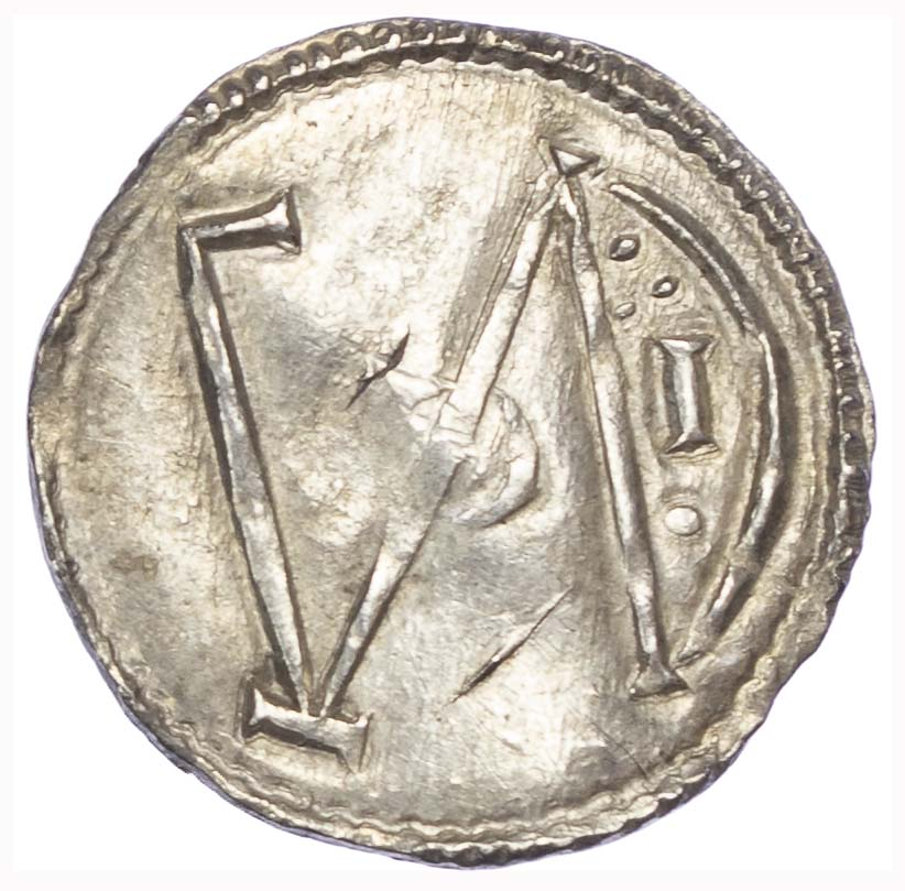 Danelaw (c.890), Five Boroughs, Penny, imitation of London Monogram type A, (Alfred The Great)