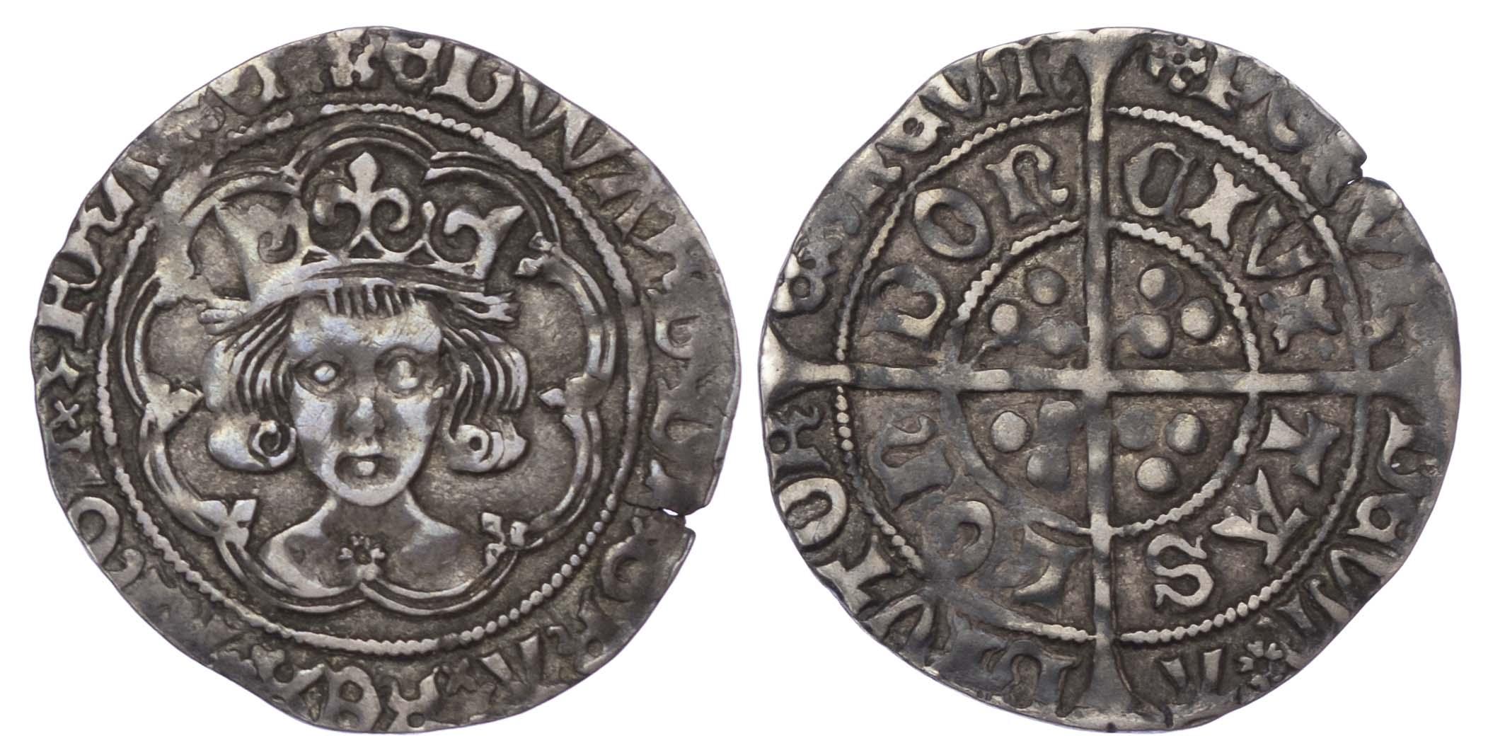 Edward IV (1471-83), Second reign, Groat, London, Type XXI
