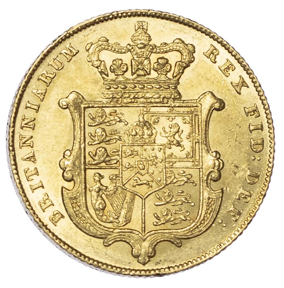 George IV (1820-30) 1829, Sovereign, Bare head