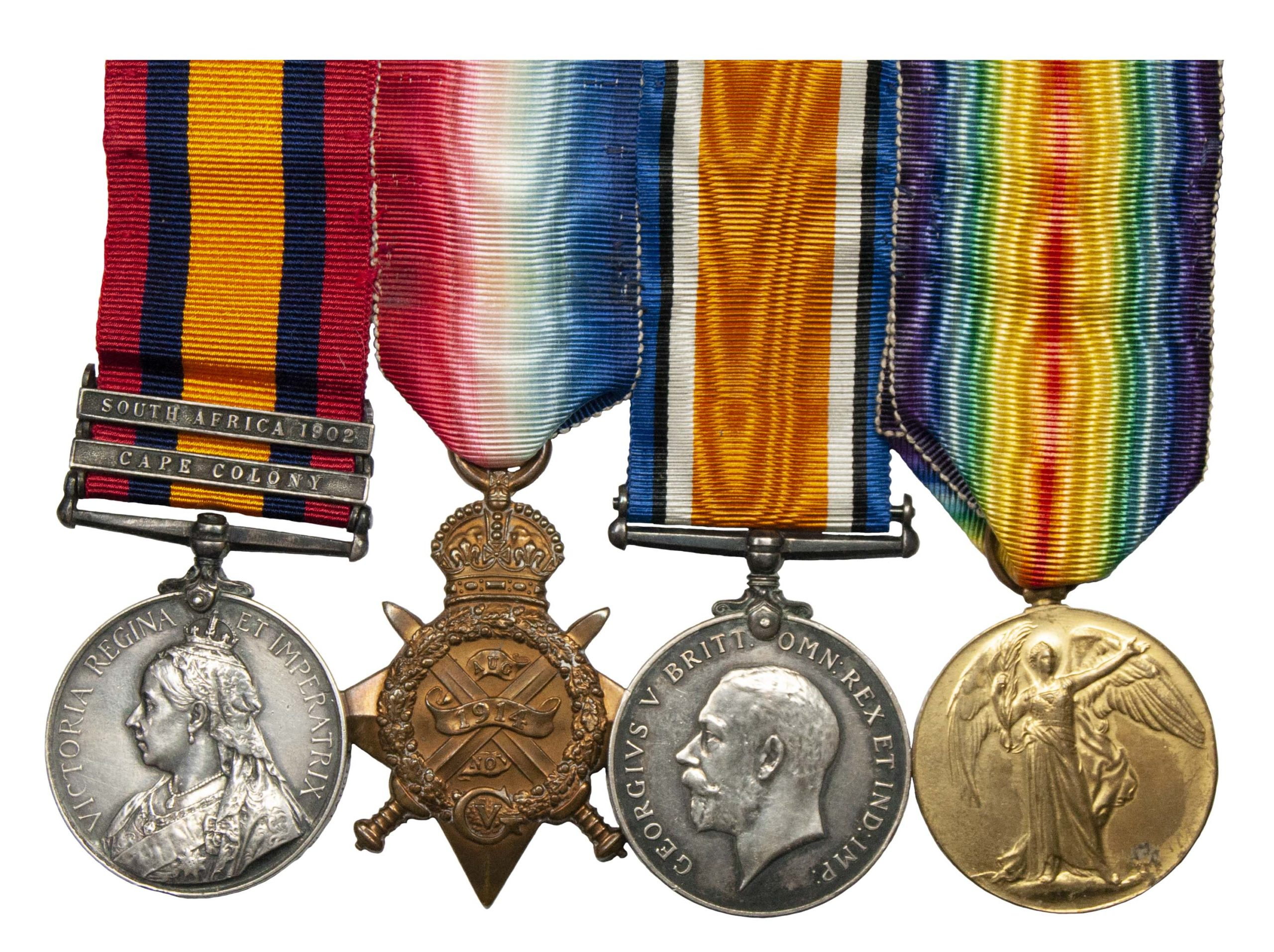 A Boer War, Great War, 1914 Star Lancers Medals to Private John Forecast