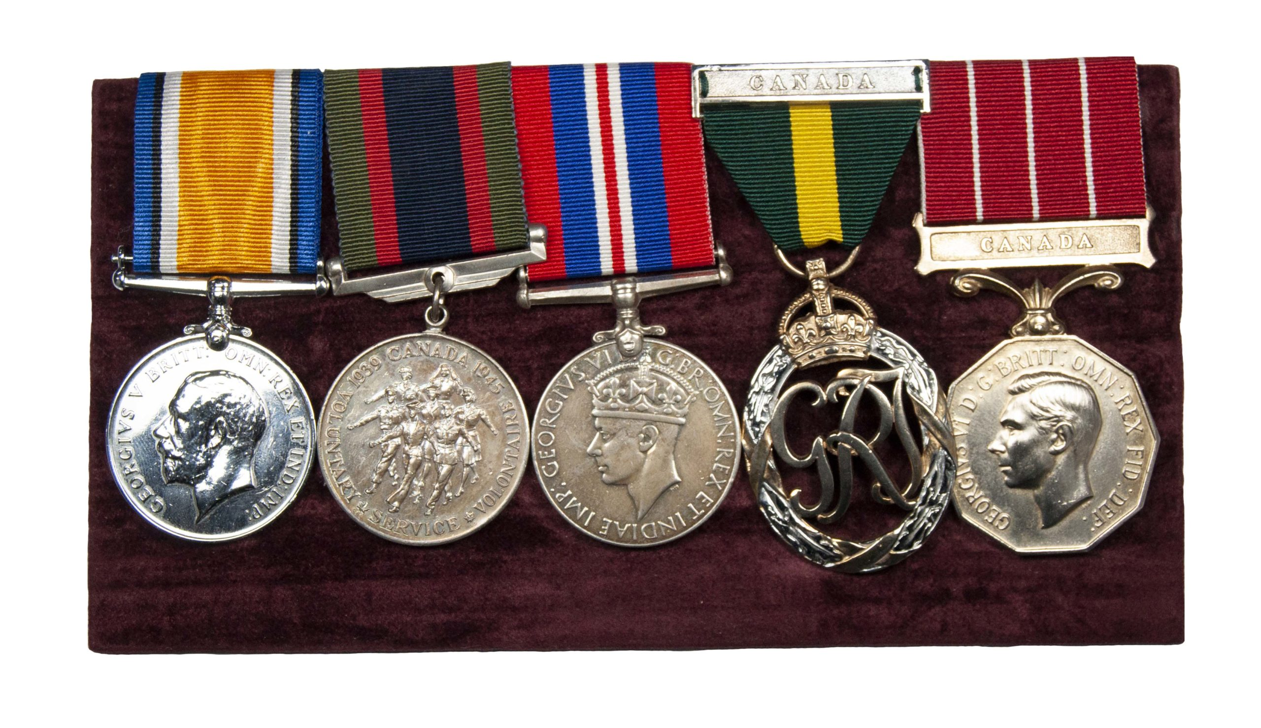A Great War, World War Two Canadian Territorial Officers Long Service Group of 5 to Major Robert Beggs Strange