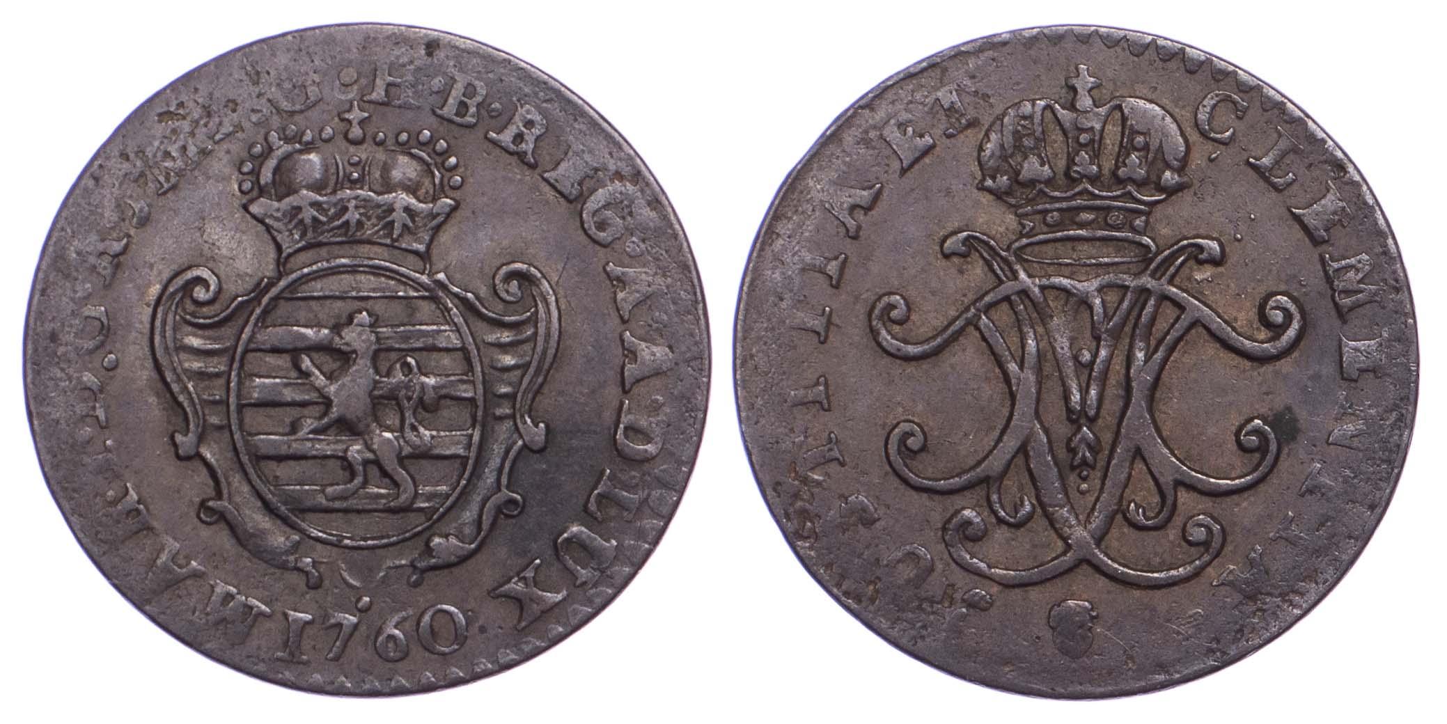 Luxembourg, Grand Duchy, Maria Theresa (1740-1780), Copper Liard (1760)
