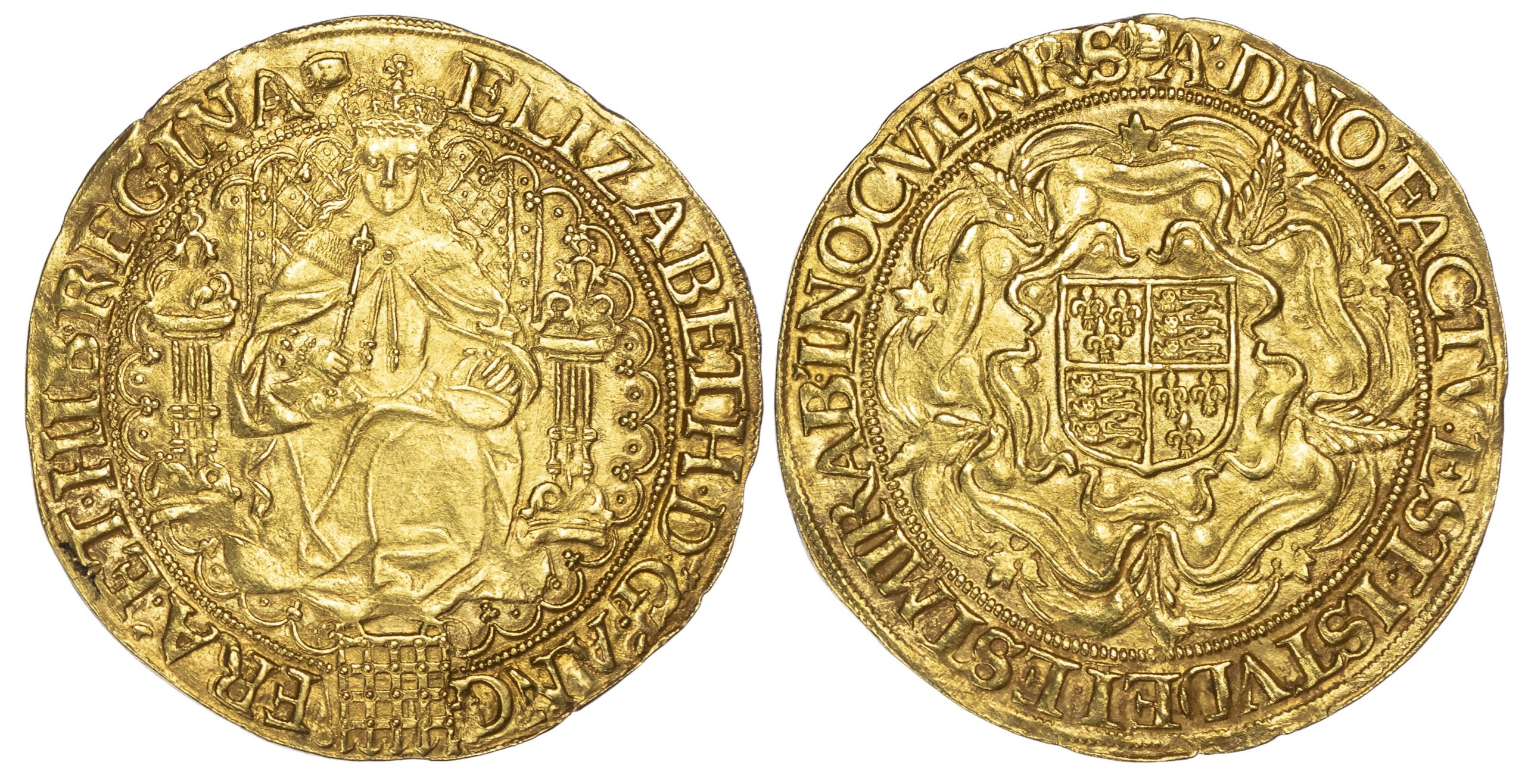 Elizabeth I (1558-1603), 'Fine' Gold Sovereign of thirty shillings, sixth issue